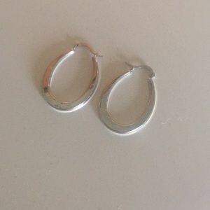 Jewelry - 14k White Gold Hoop Earrings! Made in Israel